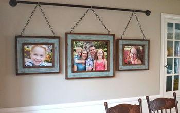 Iron Pipe Family Photo Display