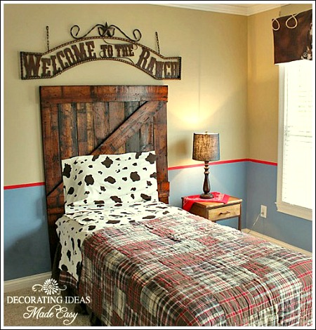 Interior Cowboy Bedroom Ideas diy headboard made from old wood hometalk bedroom ideas home decor repurposing upcycling