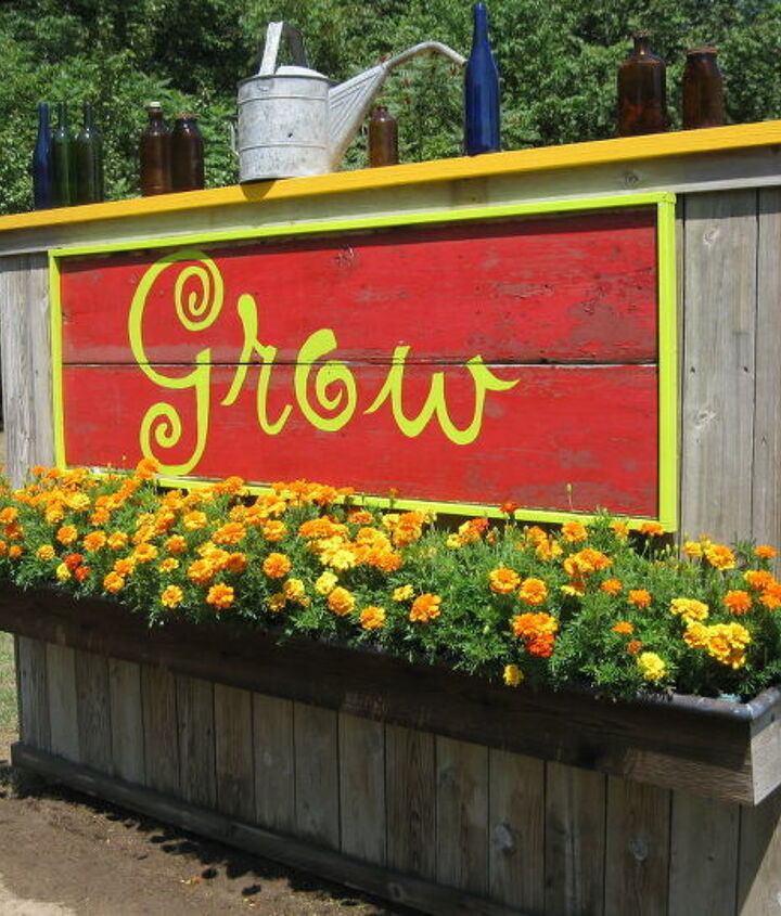 Vegetable garden sign