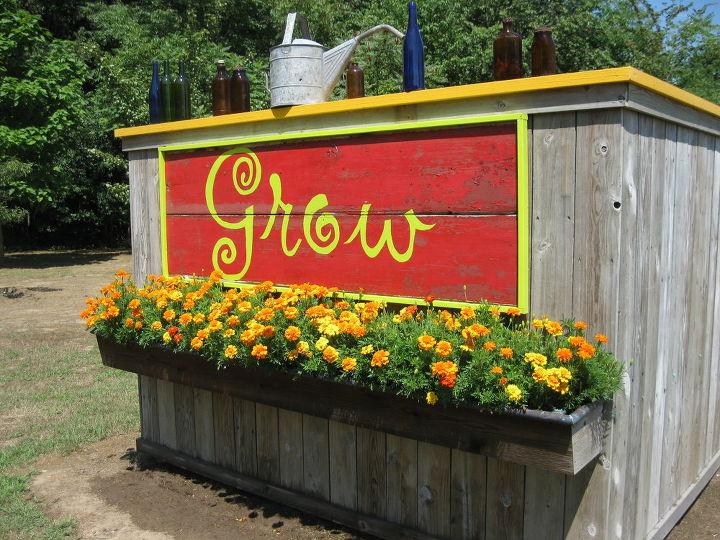 grow, gardening, Vegetable garden sign