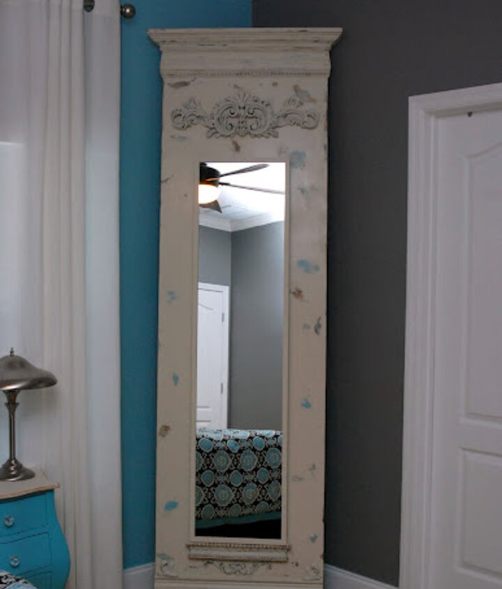 Finished DIY Trumeau Floor Mirror