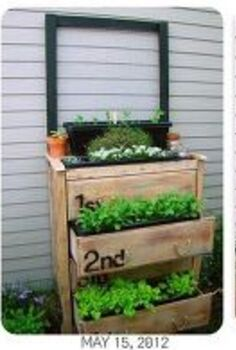 garden planter dresser, gardening, repurposing upcycling, The progression