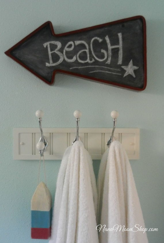 I used a coat rack for a towel rack. It's sturdier and holds more.