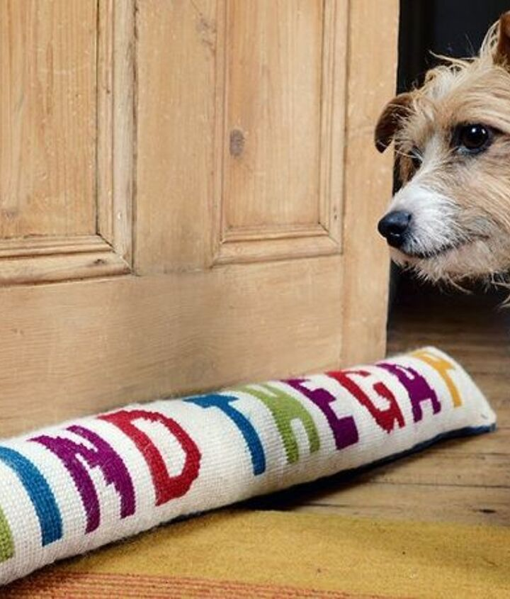 funky colourful draught excluder, crafts, doors