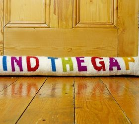 funky colourful draught excluder crafts doors & Funky Colourful Draught Excluder | Hometalk