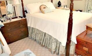 gathered bed skirt diy achieving the custom look, bedroom ideas, how to, reupholster