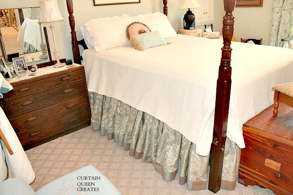 Gathered Bed Skirt Diy Achieving The Custom Look Hometalk