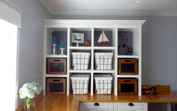 new diy open shelving for a home office, diy, home office, shelving ideas, woodworking projects