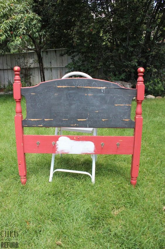 Painted Headboard Sign With Planters Hometalk