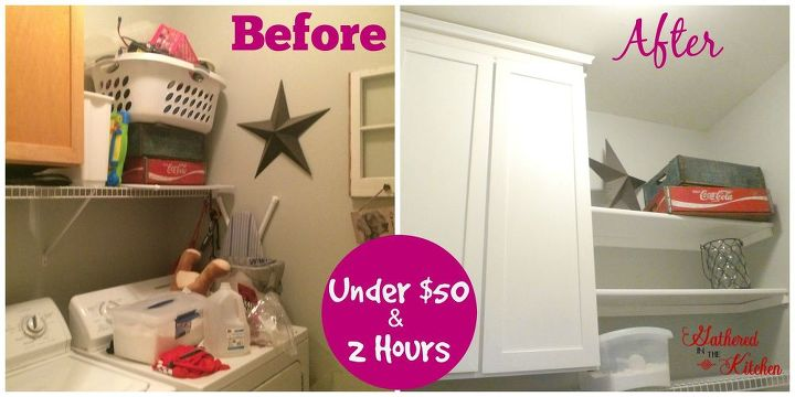 laundry room makeover for under 50 and 2 hours, diy, laundry rooms, organizing, painting, shelving ideas, storage ideas