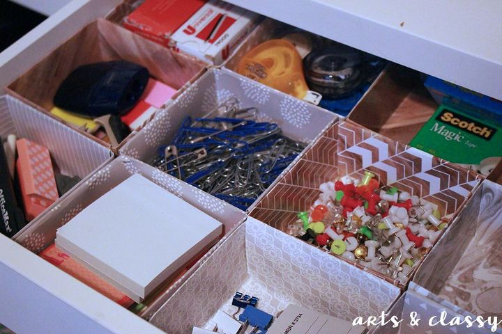 diy easy office drawer organizers, crafts, home office, how to, organizing