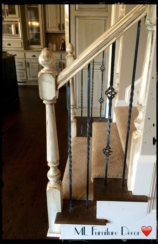 refinishing staircase banisters a complete makeover, home improvement, stairs