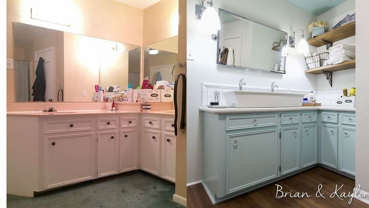 A Husband And Wife Redo Their Bathroom They Remove The Fiberglass Adorable Small Master Bathroom Pictures Painting