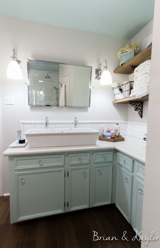 Brian Amp Kaylor Master Bathroom Reveal Diylikeaboss Hometalk