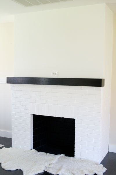painting our red brick fireplace white hometalk. Black Bedroom Furniture Sets. Home Design Ideas