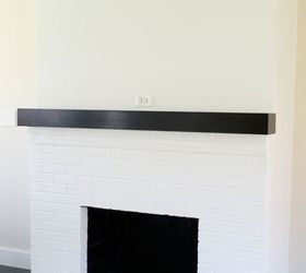 Painting Our Red Brick Fireplace White, Diy, Fireplaces Mantels, Living Room  Ideas,