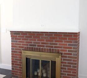 Painting Our Red Brick Fireplace White, Diy, Fireplaces Mantels, Living Room  Ideas, Part 27