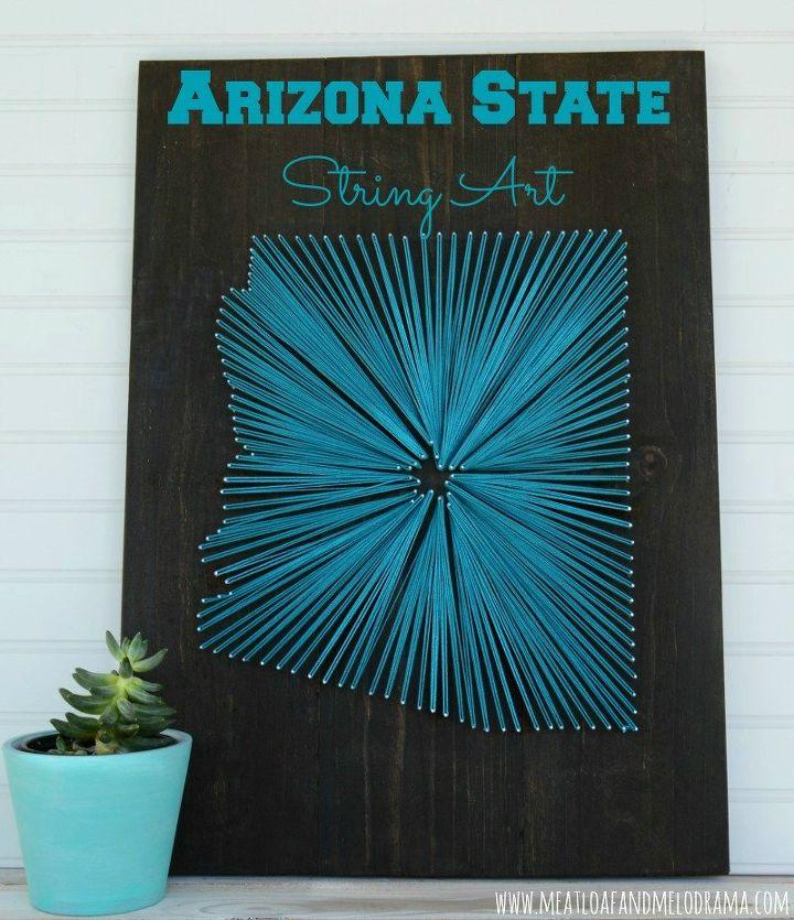 Arizona string art hometalk arizona string art crafts wall decor prinsesfo Image collections