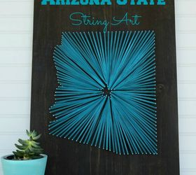 arizona string art crafts wall decor & Arizona String Art | Hometalk