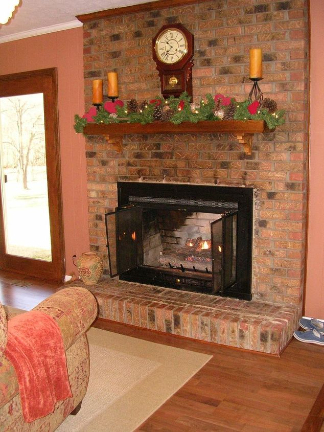 Painted Brick Fireplace Farmhouse Inspiration Hometalk