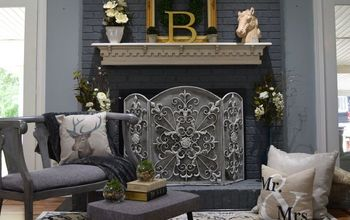 Painted Brick Fireplace-Farmhouse Inspiration