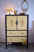 tv cabinet makeover janfabflippincontest, chalk paint, painted furniture