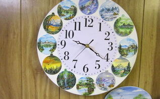 painted ice cream lid clock, crafts, repurposing upcycling, wall decor