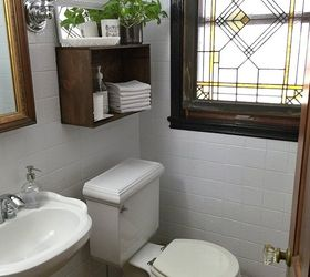 Updating The Powder Room With Painted Tile, Bathroom Ideas, Diy, Tiling,  Wall