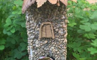 little fairy home, crafts, outdoor living, repurposing upcycling