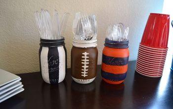 football mason jars, crafts, mason jars