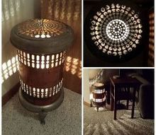 vintage electric heater lamp, diy, home decor, lighting, repurposing upcycling