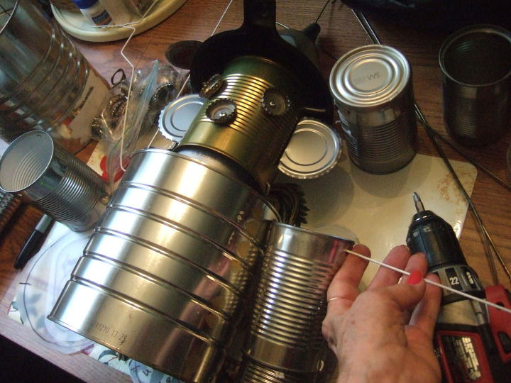 instructions for making the tin man part 2, crafts, repurposing upcycling