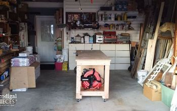 Workshop Makeover With Repurposed Storage and DIY Workbench