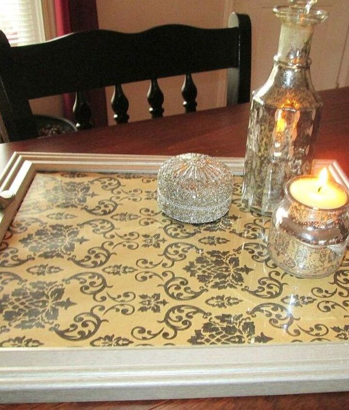s 23 awesome things you didn t know you could do with old picture frames, crafts, repurposing upcycling, Turn one into a decorative serving tray