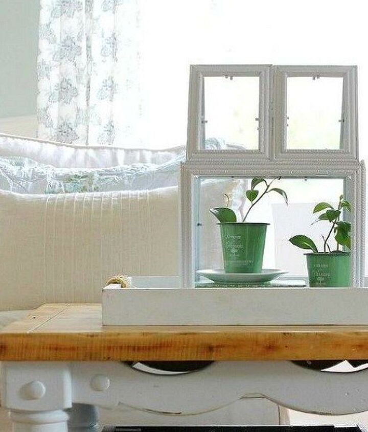s 23 awesome things you didn t know you could do with old picture frames, crafts, repurposing upcycling, Build a mini plant terrarium