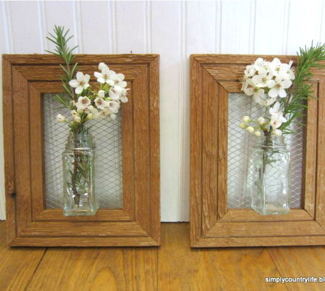 Old Picture Frame Crafts