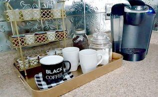 diy coffee station, organizing