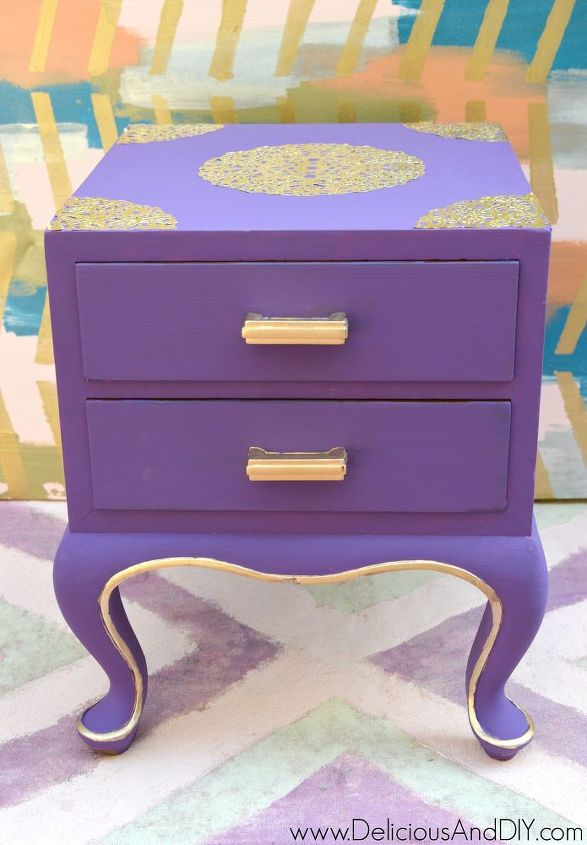 doily table makeover, painted furniture