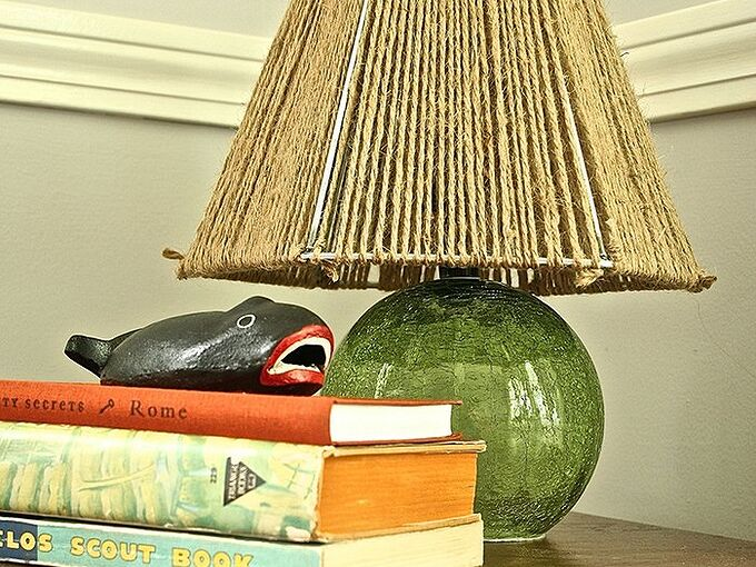 rope lampshade quick nautical diy, crafts, lighting