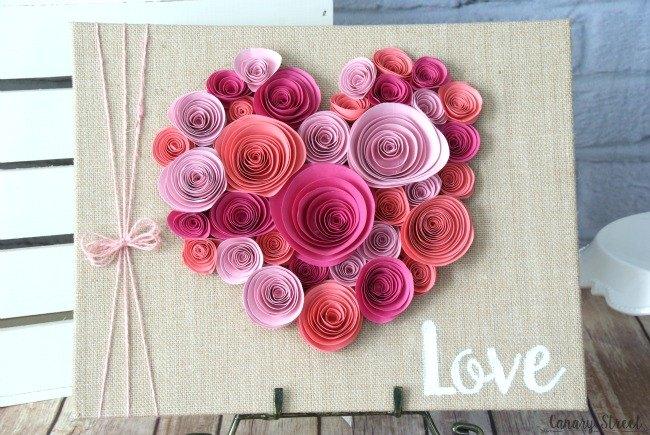 Easy paper flower heart craft hometalk easy paper flower heart craft crafts seasonal holiday decor valentines day ideas mightylinksfo
