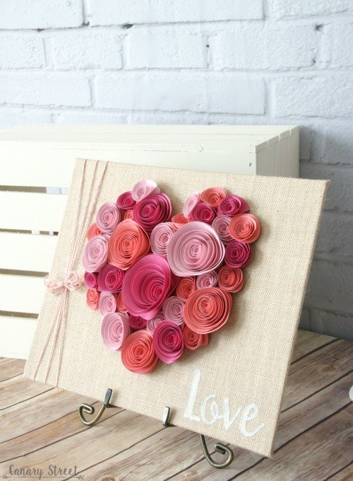 Easy paper flower heart craft hometalk easy paper flower heart craft crafts seasonal holiday decor valentines day ideas mightylinksfo Images