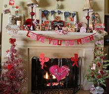 luv on the mantel, fireplaces mantels, seasonal holiday decor, valentines day ideas