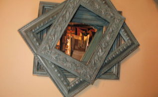 got a mirror and some frames look what you can make, chalk paint, crafts, repurposing upcycling, wall decor