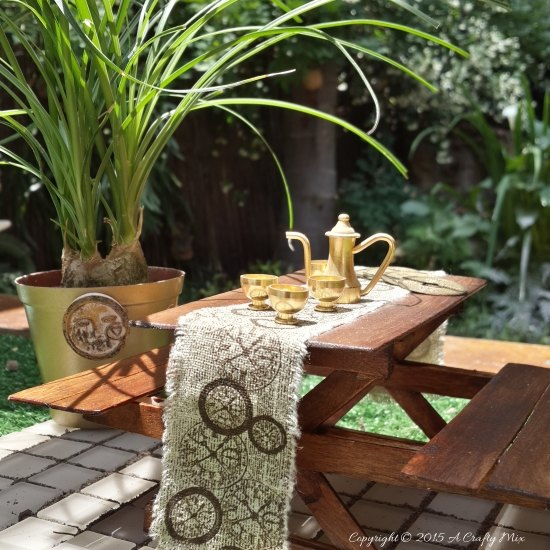 fairy picnic table, crafts, gardening, outdoor living