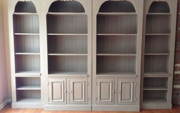 bookcase makeover with chalk paint, chalk paint, painted furniture, rustic furniture, AFTER painted with Chalk paint