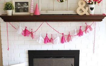 Valentine's Day Mantel + DIY Tissue Garland