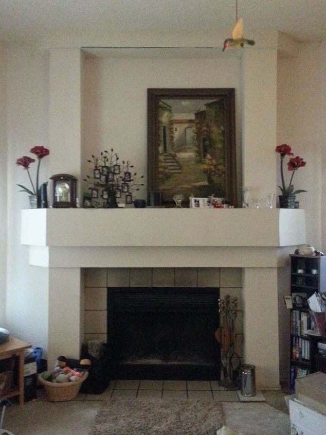 q spruce up 70 s builders grade fireplace, fireplaces mantels, home maintenance repairs, minor home repair, painting