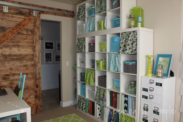 Craft Room Reveal With Decor Ideas and Craft Supplies Storage ...