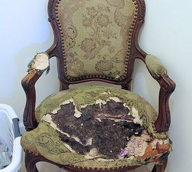 Transforming A Vintage French Chair, Painted Furniture, Reupholster   Reupholster  Antique Chair   Design