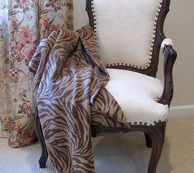 Transforming A Vintage French Chair, Painted Furniture, Reupholster